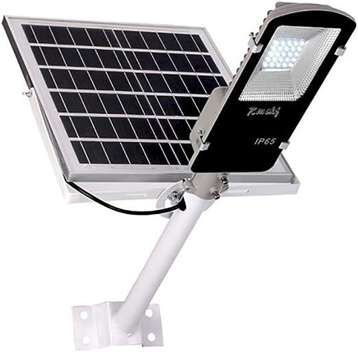 Rmckj-Q 10W-200W Luz Solar Exterior Impermeable IP65 LED Farola Solar con Soporte Ajustable Y Control Remoto/Sensor Crepuscular Luces De Jardín para Calle Patio Jardín (6500K,1 Piezas),10W: Amazon.es: Hogar