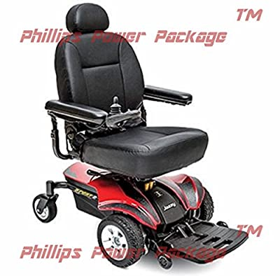 Pride Mobility - Jazzy Sport 2 - Front-Wheel Drive Power Chair - Jazzy Red - PHILLIPS POWER PACKAGE TM - TO $500 VALUE