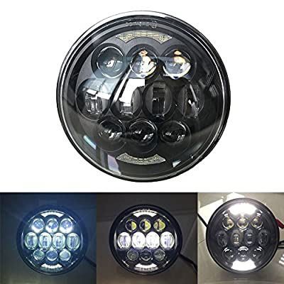 """2017 New design 80W Osram Chips 5-3/4"""" 5.75"""" Round LED Projection Daymaker Headlight for Harley Davidson Motorcycles Black"""
