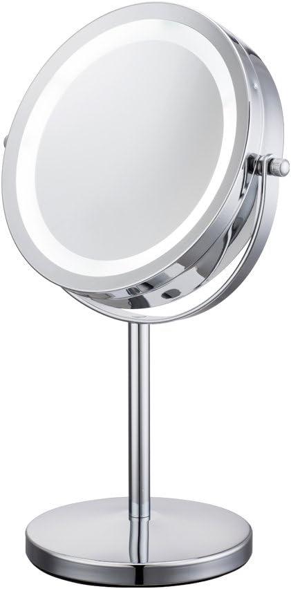 Espejo de tocador LED 17 cm Espejo 1/10X de mesa cosmético con luz ...