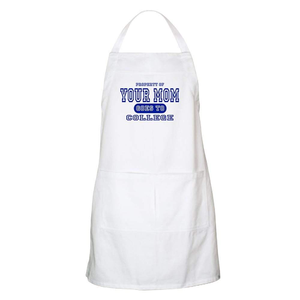 CafePress - Your Mom Goes To College BBQ Apron - Kitchen Apron with Pockets, Grilling Apron, Baking Apron