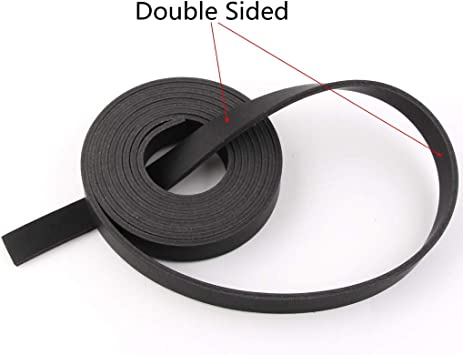 Double Sided Faux Leather Strip Crafts Strap Black, 1//2x72