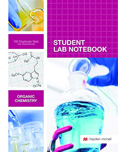 - Organic Chemistry Student Lab Notebook: 100 Carbonless Duplicate Sets. Top sheet perforated