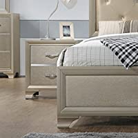 Home Source H-1058-NS Night Stand, Champagne