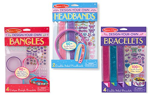 Melissa & Doug Design-Your-Own Jewelry-Making Kits - Bangles, Headbands, and Bracelets Design Childrens Bangle