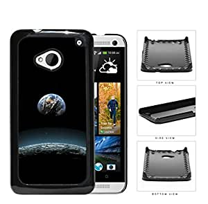 Earth Aerial View From The Moon Hard Plastic Snap On Cell Phone Case HTC One M7