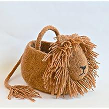 Handmade Felted Wool Lion Basket