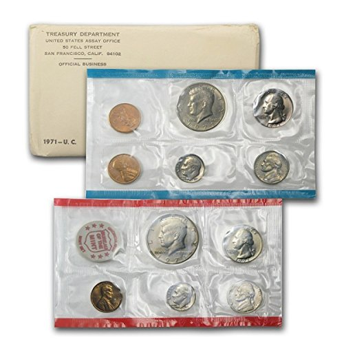 1971 US 11 Piece Mint Set In original packaging from US mint Uncirculated ()