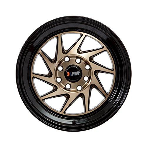 15x8 F1R F07 Bronze w/ Black Lip Rim Offset(25) Lug(4x100/4x114.3) Bore(67.1) 1 Wheel -- F07158BZBK25 by F1R Wheels (Image #1)