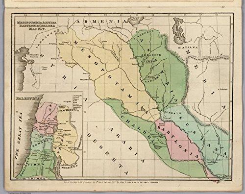 Map Poster - Map No. V. Mesopotamia Assyria, Babylonia Chaldea