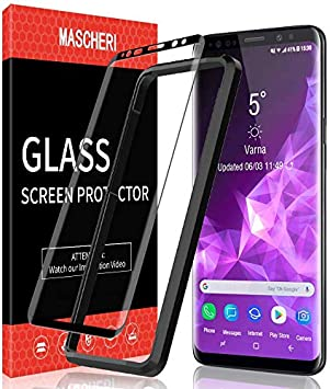 MASCHERI Protector de Pantalla para Samsung Galaxy S9 Plus, [3D Cobertura Completa] [Marco de posicionamiento] Vidrio Templado Samsung S9 Plus Cristal Templado: Amazon.es: Electrónica