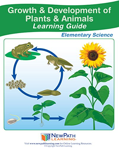 Growth of Plants/Animals Student Guide, Set/10 (GR 3 - 5) - Self-Directed Readings, Illustrated Explanations, Labs, Vocabulary and Quizzes (36 pp EA)