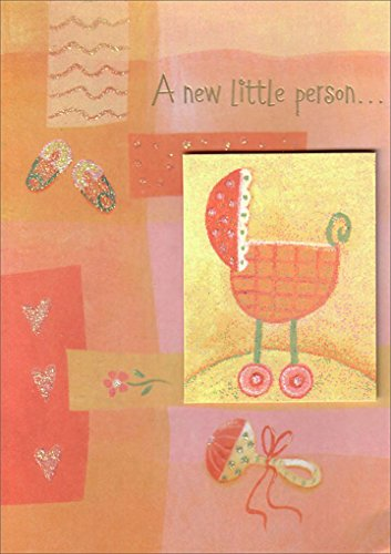 Baby Carriage Tip On - Freedom Greetings New Baby Card -