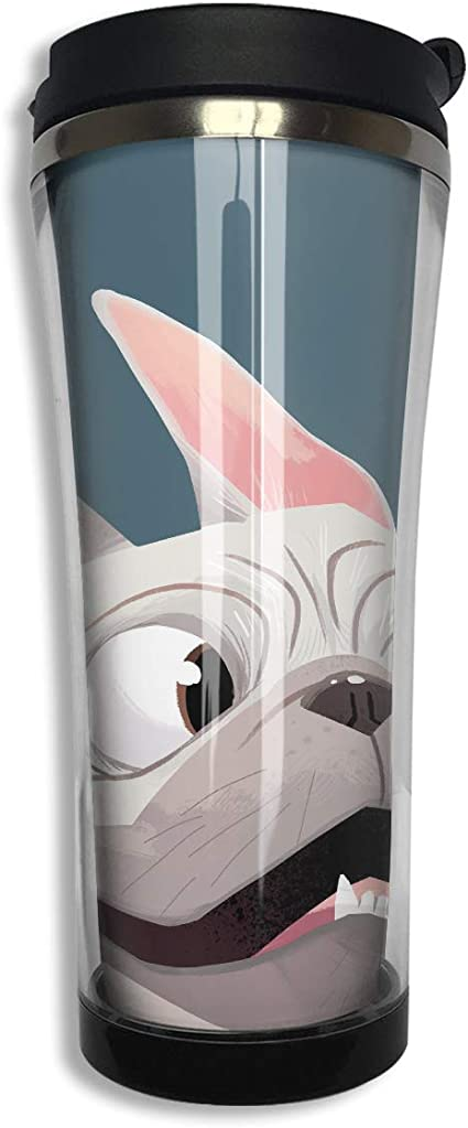 Vacuum Flask Hot /& Cold by Jane Bannon Water Bottle French bulldog