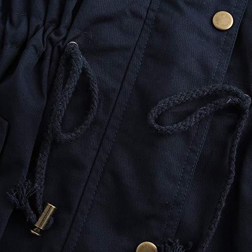 Moda Outwear Colore Da Ragazze Eleganti Fit Vicgrey Inverno Lungo Giacca Marina Parka Puro Donna Slim Gilet ❤ Cardigan Autunno Cappotto qBBav6