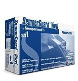 Sempermed Semperguard VPF Clear XL PVC Powder Free Disposable General Purpose & Examination Gloves - Industrial Grade - Smooth Finish - VPF105 [PRICE is per BOX]