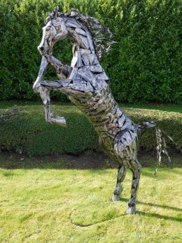 330cm Outdoor Garden Art Statue Ornament Sculpture Extra Large Rearing Horse