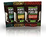 Perfect Fuel Organic & Gluten Free Dark Chocolate Energy Bites Variety Pack (3 Pouches, 18 Count)
