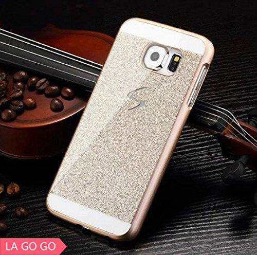 Galaxy S4 Case, LA GO GO(TM) Beauty Luxury Diamond Hybrid Glitter Bling Hard Shiny Sparkling with Crystal Rhinestone Cover Case for Samsung Galaxy S4 i9500 (Gold, Galaxy S4)