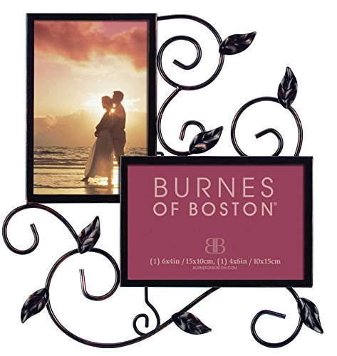Burnes of Boston PS117346 Maria Wire 2 Opening Picture Frame, Champagne Classic Scroll Picture Frame