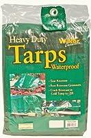 Heavy Duty Waterproof Tarp - Green, 10-by-12 Foot (10x12)