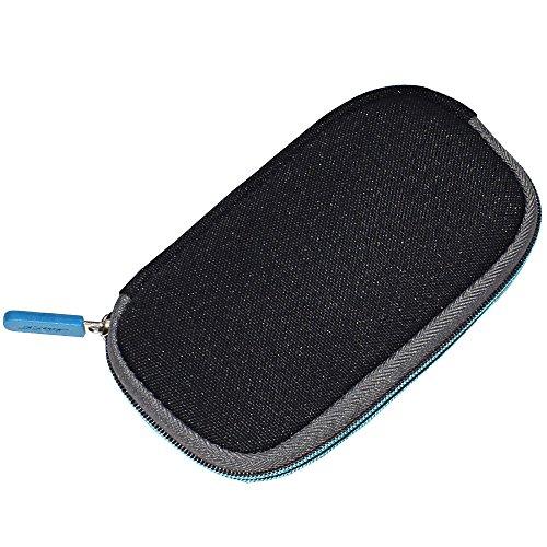 Alitutumao Zipper Carring Case Storage Cover Bag Pouch for Bose QC20 QC 20 QC20i QC 20i QuietComfort 20 Headphones (Black)