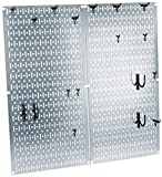 Wall Control 30-KTH-200 GVB Kitchen Pegboard Organizer Pots and Pans Pack Storage and Organization Kit Accessories, Silver/Black