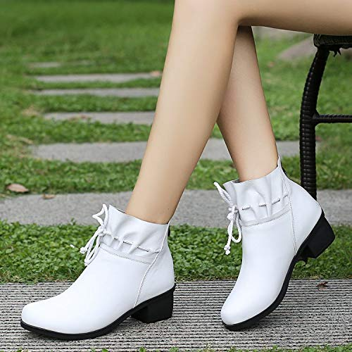 Thick Single Stivaletti White Shukun Boots Spring Martin With Women's And Shoes Autumn Pu Children's Winter PdvqFd