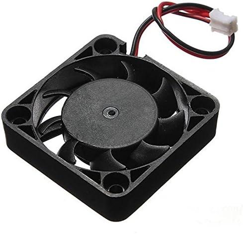 Rarido 2018 12V 2 Pin 40mm Fan Computer Cooler Small Cooler Fan PC Black Fan Heat Sink Computer Peripheral Black ping Blade Color: Black, Blade Quantity: 9
