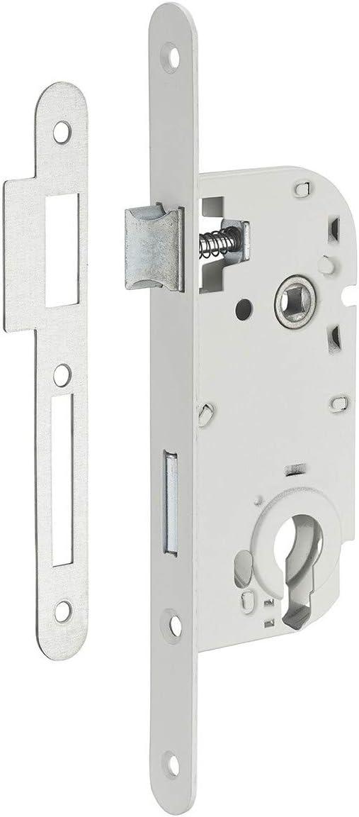 Serrupro - Caja de cerradura empotrable para puerta interior - V/BR