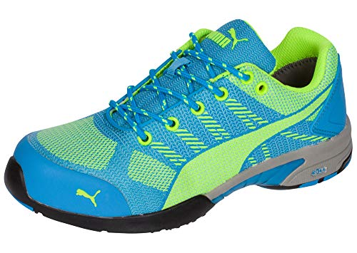 PUMA Safety Green/Blue Womens Meshelerity Knit Low AST ST Work Shoes 10