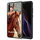 Galaxy A30 Case, Galaxy A20 Case, Vobber Shockproof Architecture Silicone TPU Protective Case Cover for Samsung Galaxy A30/A20,Horse Make Life Better