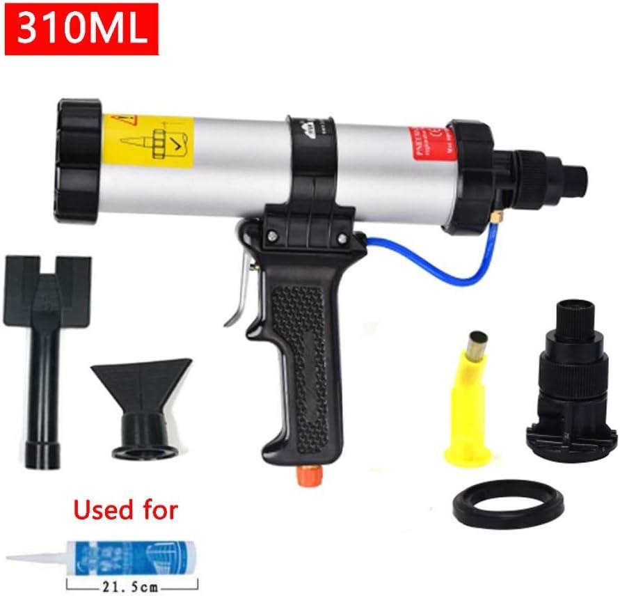 GW Cartucho de sellador neumático Pistola de Aire 310 ml Pistola de Aire Pistola de calafateo para Autos de Auto Uso con la Boquilla de plástico de Placa metálica