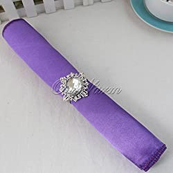"10 Pcs/lot Purple Violet Satin Table Napkin 12"" Square Men Pocket Handkerchief Multi Purpose Wedding Banquet Colors"