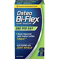 Osteo Bi-Flex One Per Day Glucosamine with Joint Shield Dietary Supplement Helps Strengthen Joints 60 Coated Tablets
