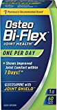 Osteo BiFlex One Per Day Glucosamine Joint Shield Dietary Supplement, Helps Stregthen Joints, 60 Count