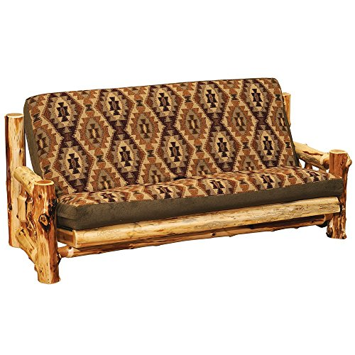 Rustic Futon Covers (Cedar Futon and Cover Real High Quality Wood Western Lodge Rustic Cabin Sofa)