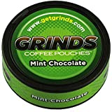 Grinds Coffee Pouches - 6 Cans - Mint Chocolate - Tobacco Free, Nicotine Free Healthy Alternative
