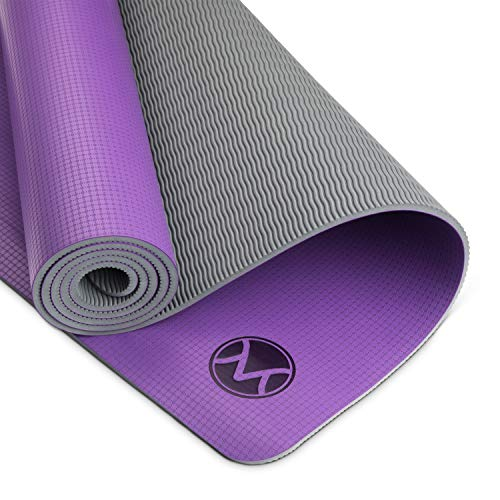 Youphoria Yoga Mat, 24 in x 72 in x 6mm, Lightweight and Absorbent Non Slip Yoga Mats for Hot Yoga,...