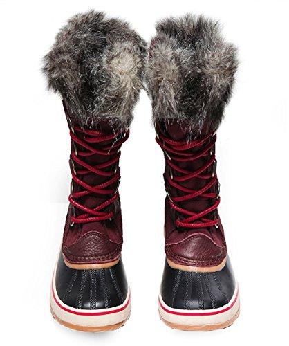 SOREL Women's Joan Of Arctic Redwood/Red Element 9 B US by SOREL (Image #3)