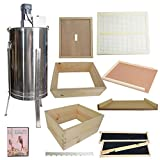 Goodland Bee Supply Complete 4 Tier Bee Hive Kit Including Electric 2...