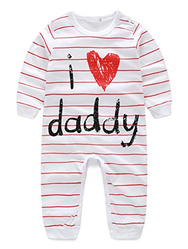 Unisex Infant Baby Cute Letter Printed Rompers Footless Coverall Bodysuits Jumpsuit