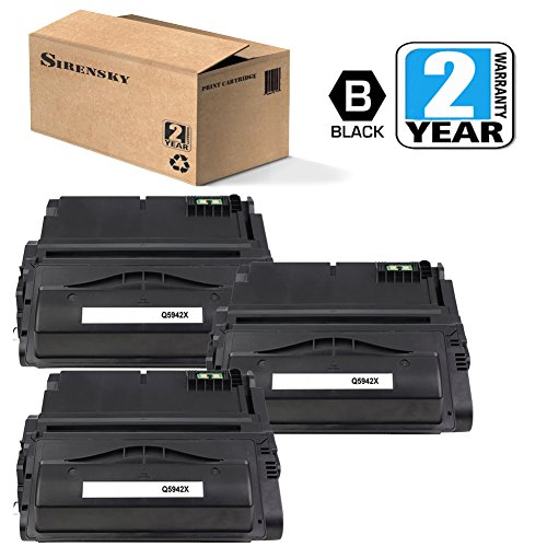 42X Q5942X Toner Cartridge 3 Pack Compatible for LaserJet 4200 4240 4250 4250TN 4250N 4250DTN 4300 4350 4345MFP 4350N 4350TN 4350DTN, Sirensky Brand