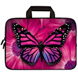 """Universal 7 - 9 inch Kid Tablet Sleeve Portable, Neoprene Carrying Sleeve Case Bag For 7"""" 8"""" 8.5"""" 8.9"""" 9"""" Amazon Tablet,Fire HD 8,Tablet Notebook (Purple Butterfly)"""