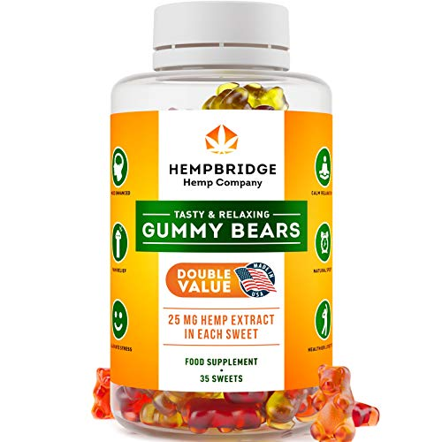 Premium Hemp Gummies - Safe and Natural - Made in USA - 875MG Total, 25MG Each - Relaxing, Pain, Stress & Anxiety Relief - Special Blend - Rich in Vitamins B, E,Omega 3, 6, 9 & More