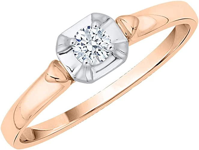 G-H,I2-I3 Diamond Wedding Band in 14K Yellow Gold 1//20 cttw, Size-10.5