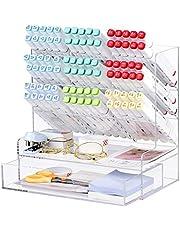 Acrylic Desk Organizer, Multi-Functional Pen Holder, Makeup Brush Organization, Pen Organizer Storage for Office, School, Home Supplies