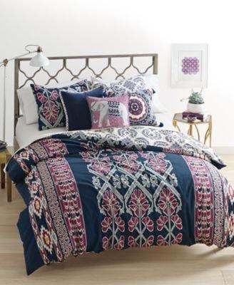 KING Martha Stewart Whim Collection WILD CHILD Comforter Cover 3 Piece Set