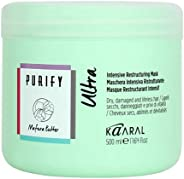 kaaral purify ULTRA intense restructuring professional mask for damaged hair - 500 gr