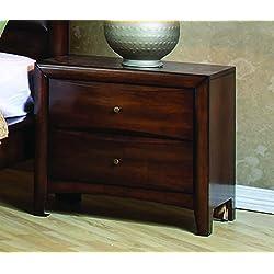 Coaster Home Furnishings CO- Hillary 2-drawer Nightstand, Warm Brown